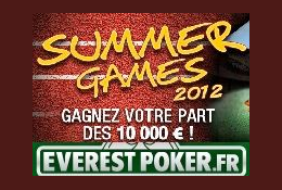 10 000 euros en jeu aux Summer Games 2012 d�Everest Poker